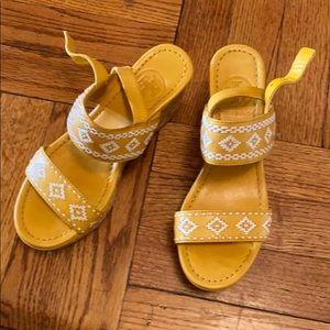 Beautiful Tory Burch wedge sandals